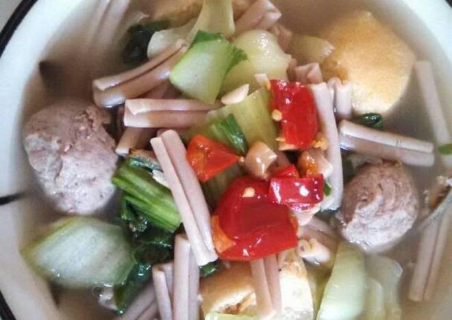 Bokchoy meatballs pasta soup 青菜肉丸🍡面条🍜汤