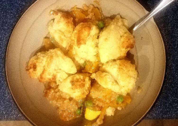 Delicata Squash and Quinoa with drop biscuits
