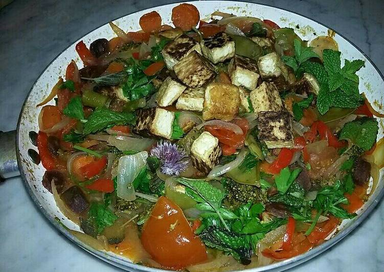 Thai style ~ red curry veggie sauté