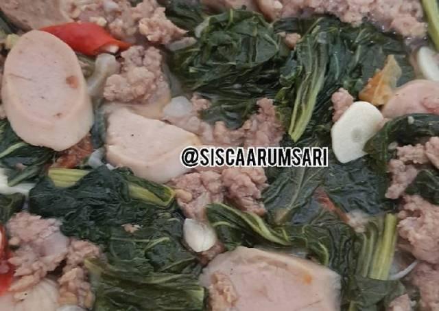 Tumis Caisim (sawi hijau) Daging Sapi