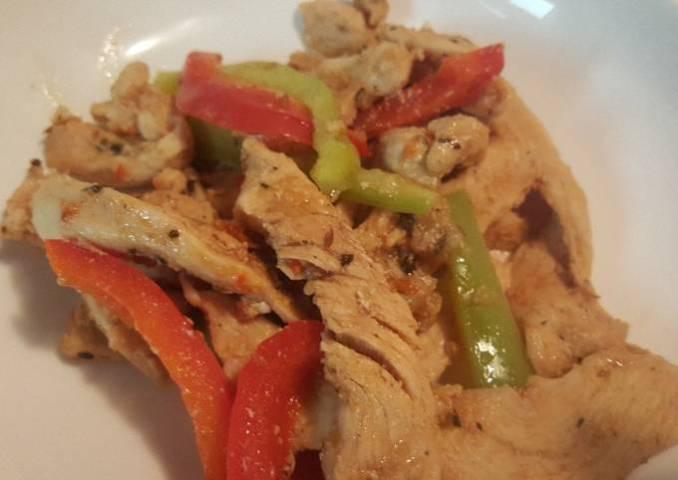 Fajitas de pollo fáciles para cenar