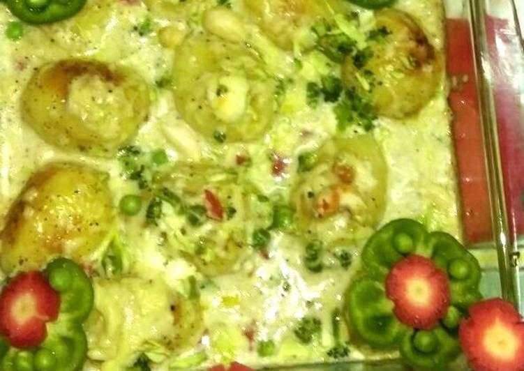 Creamy Potatoes n Veggies Casserole