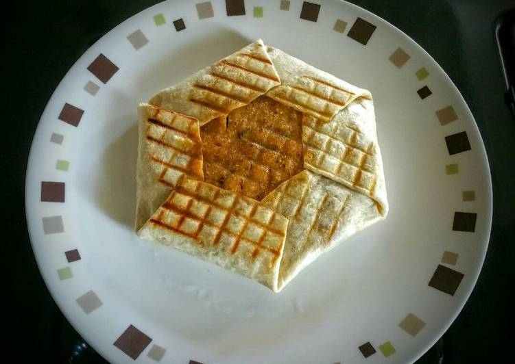 Paini press vegetarian crunch wrap
