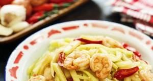 Spicy Shrimp Chayote Squash Stir Fry