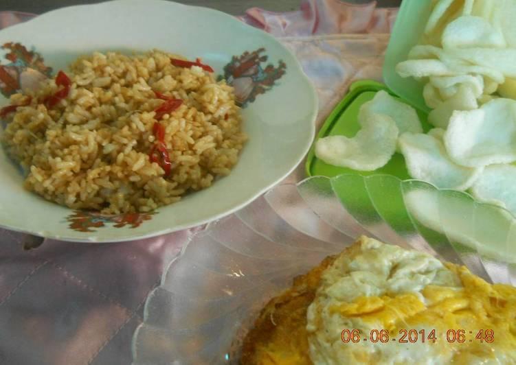 nasi goreng kecap bumbu iris
