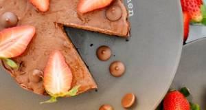 Kek Keju Coklat Dan Strawberi