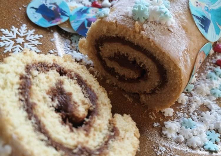 Gâteau roulé cœur chocolat