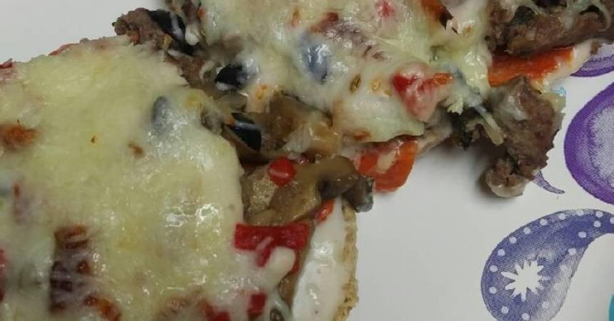 Recipe: Delicious Bagel Alfredo Sauce Pizza