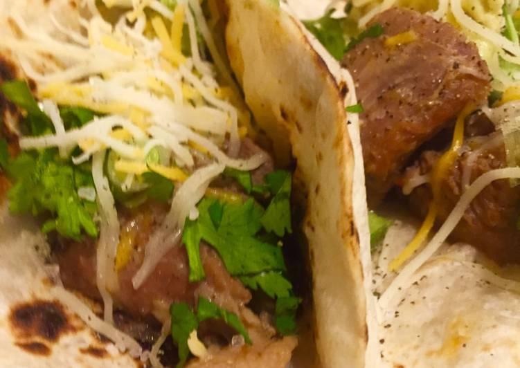 Instant Pot Adovado Tacos