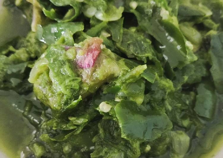 Sambal cabe hijau ikan asin