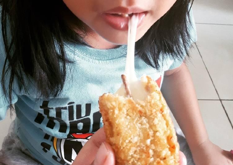 Stick mozza/corn dog mozza ala gena (camilan sehat)