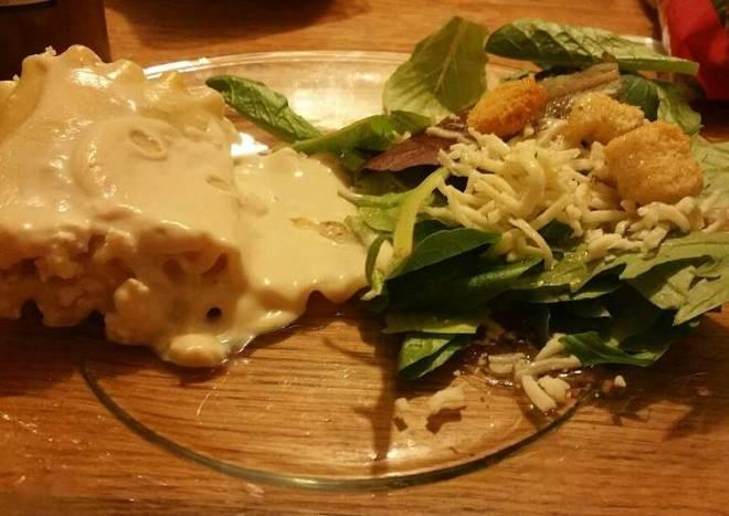Chicken Alfredo Lasagna Rollups