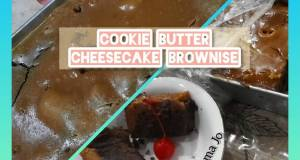 Cookie Butter Cheesecake Brownise