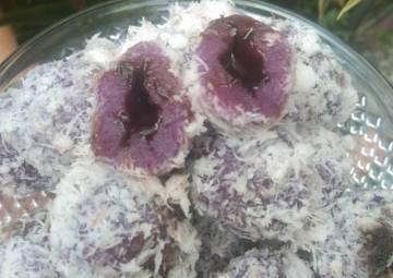 Resep Klepon ubi ungu coklat lumer🤤