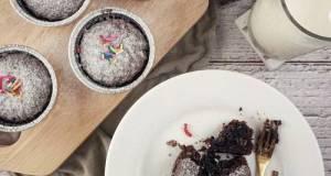 Chocolate Larva Cupcakes