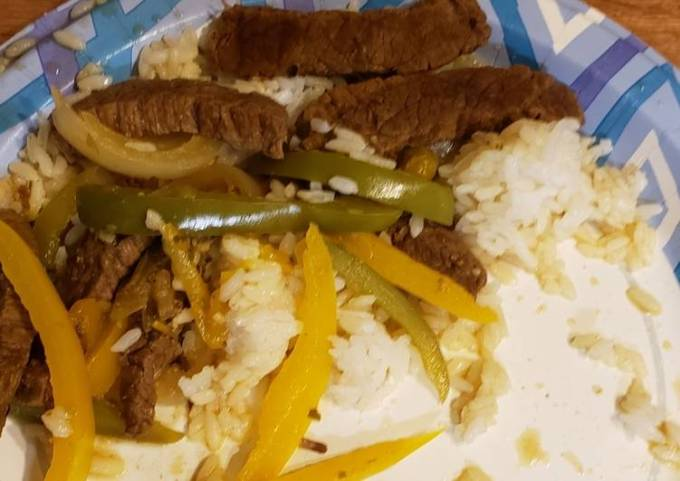 Pepper steak / beef pepper steak