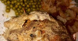 Minute French Onion Stuffed & Smothered Chicken