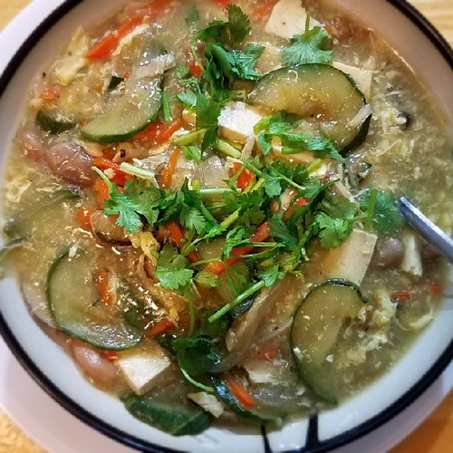 Cucumber tofu eggdrop soup#Everday meal soup黄瓜豆腐羹