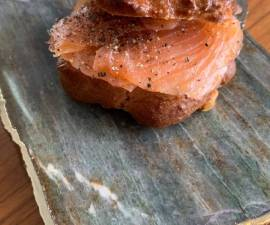 How to Prepare Tasty Low fat, low carb rosemary bagels for Jamo with salmon and black pepper
