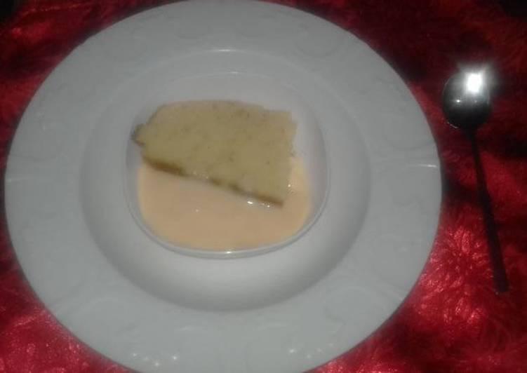 Lemon Cake and Custard
