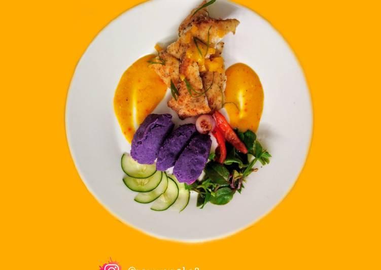 Capiz Mangagat Fish in Mango Sauce And Malabar Salad