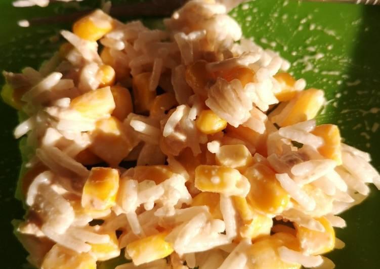 Salade de riz thon et maïs