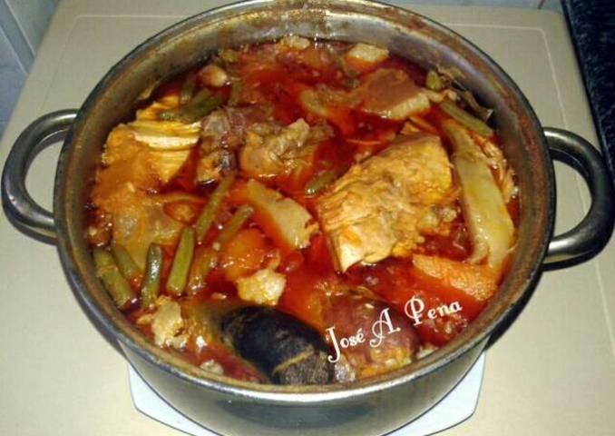 Cocido Andaluz con calabazas y habichuelas