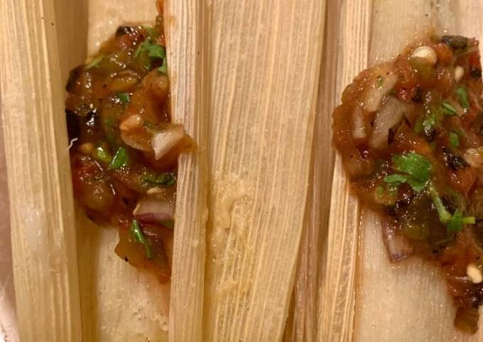 Cheese and Poblano Tamale
