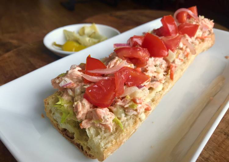 Leftovers Makeover: Roast Salmon Salad Sandwich