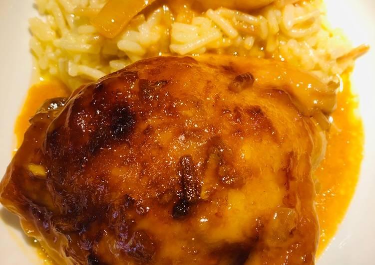 Tangy Teriyaki Apricot Chicken 🐔