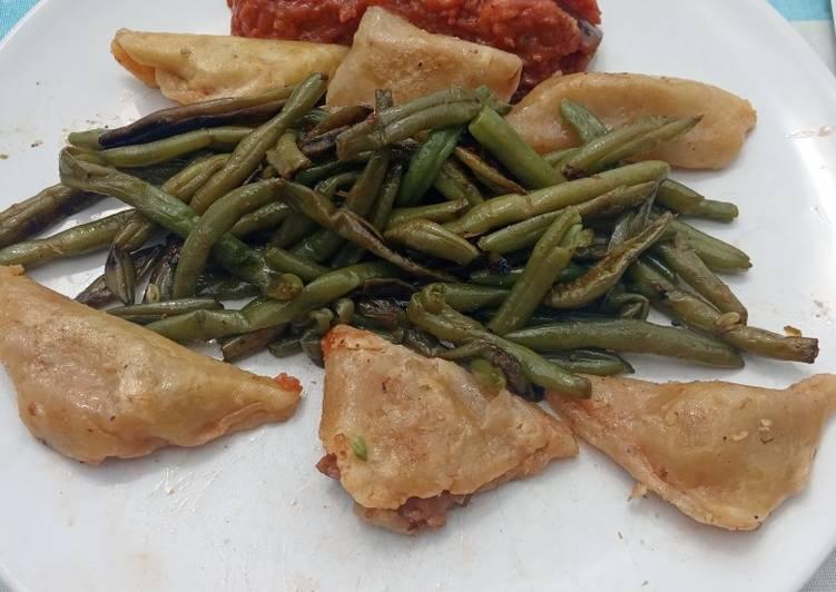 Raviolis à la riste d'aubergine