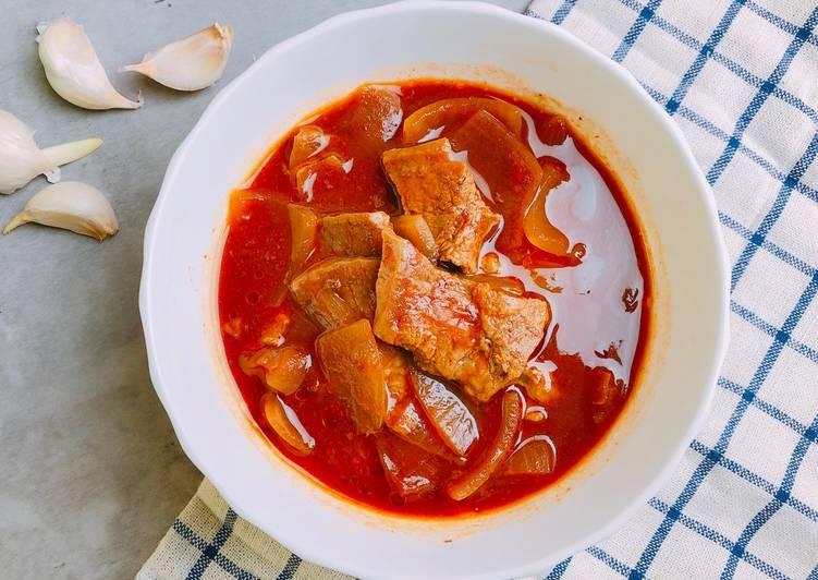 茄汁洋蔥燉牛肉湯/電鍋料理/番茄糊食譜 by 潔西卡的美味筆記 - Cookpad