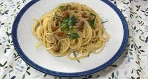 Jamur Nameko Spaghetti Japanese flavor