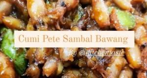 Baby Cumi Pete Sambal Bawang ala Kitchentaste