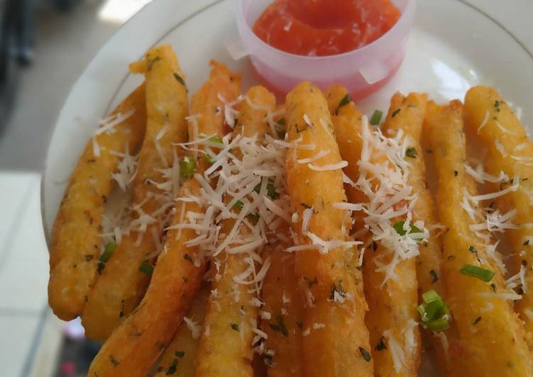 Potato chese stik (stik kentang keju)