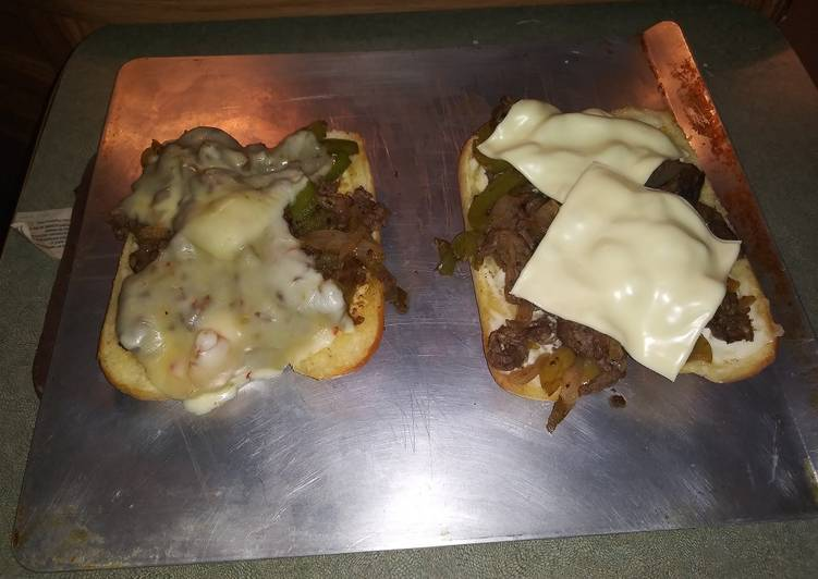 Yummy Philly cheese steaks