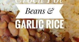 Vegan Crock Pot Beans & Garlic Rice 🍚