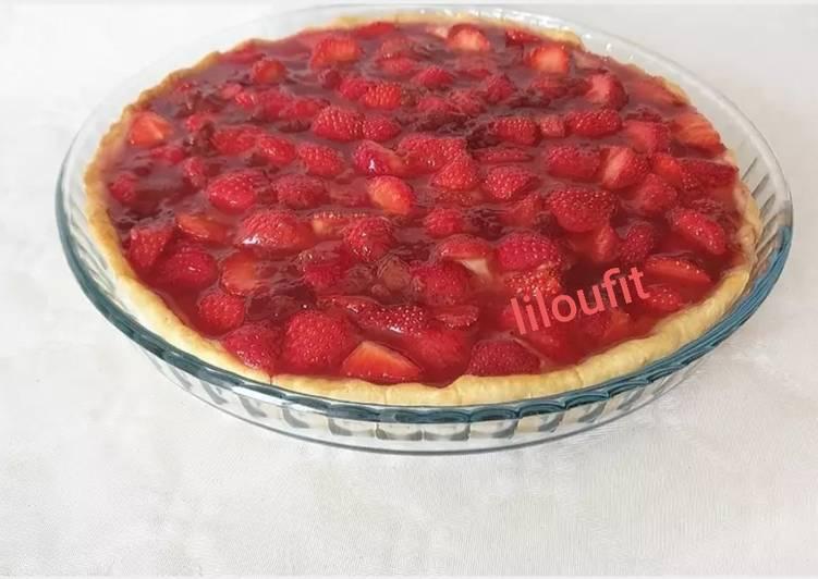 Tarte aux fraises amandes