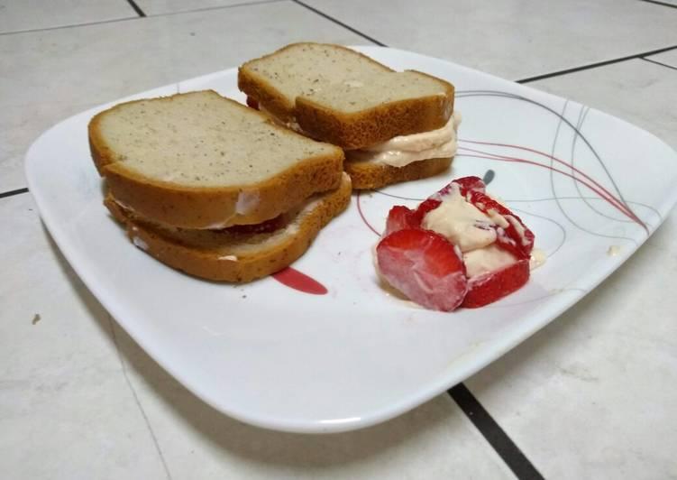 Strawberry cream cheese sandwich