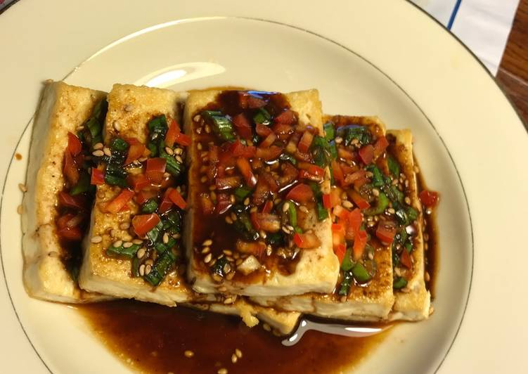 Towards the End of the Month Menu (Part One) Tofu in Soy Sauce