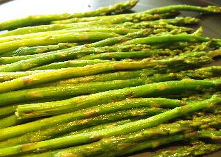 Butter grilled asparagus