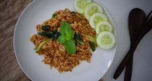 Nasi Goreng Kornet saus barbeque kornet sosis sayur