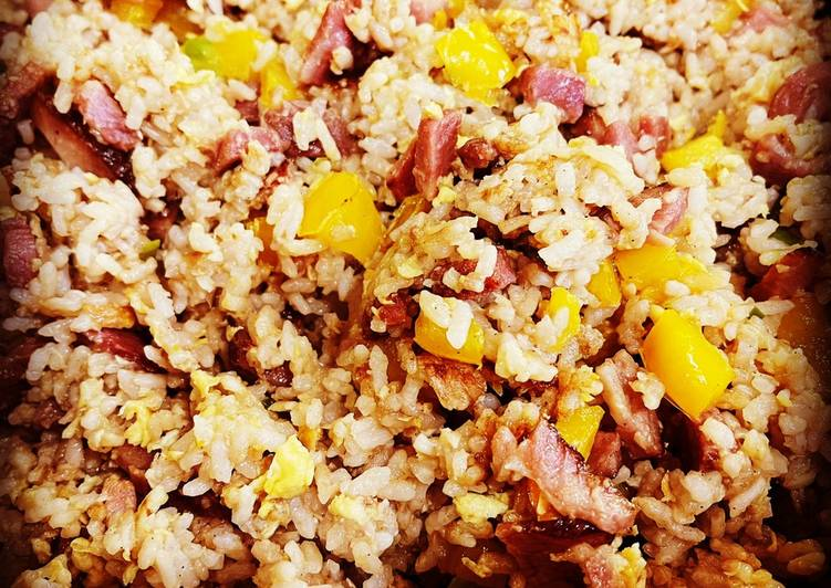 Leftover Ham Fried Rice