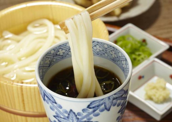 Easy Vegan Udon Noodle Soup, made with Shiitake  powder