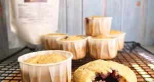 Vanilla Cupcake Dengan Jem Roselle (Tanpa Gluten Dan Vegan)