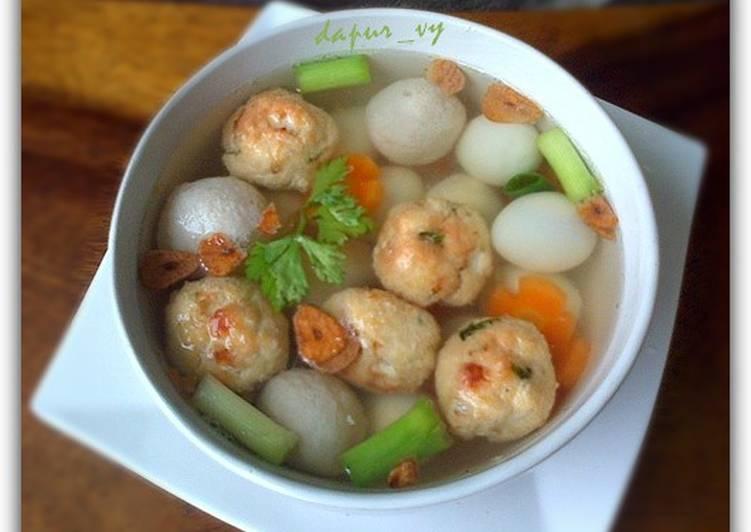 SUP bakso TAHU goreng super simple