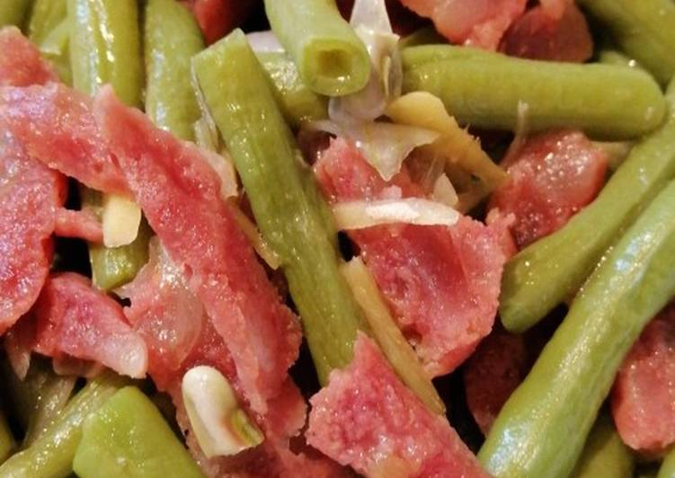 , Recipe: Tasty String beans w/ Chinese Sausage