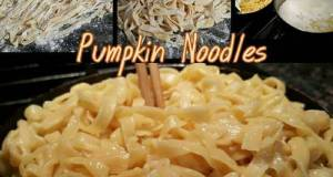 Homemade Pumpkin Noodles