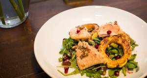 Delicata Squash Salad W/ Roasted Salmon