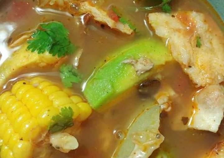 Tami's Simple Chicken tortilla soup